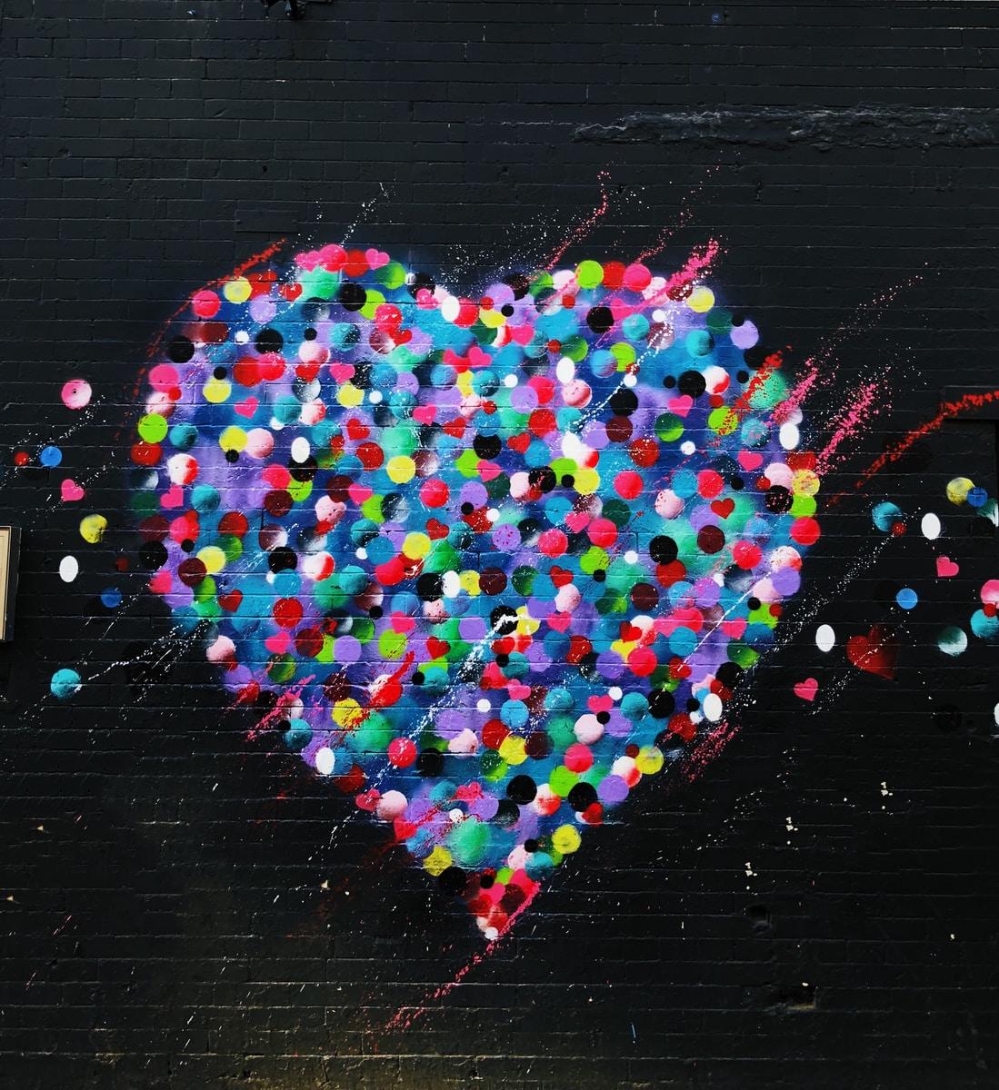 heart grafiti art